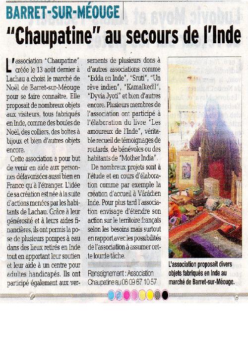 Article sur le Dauphiné Libéré